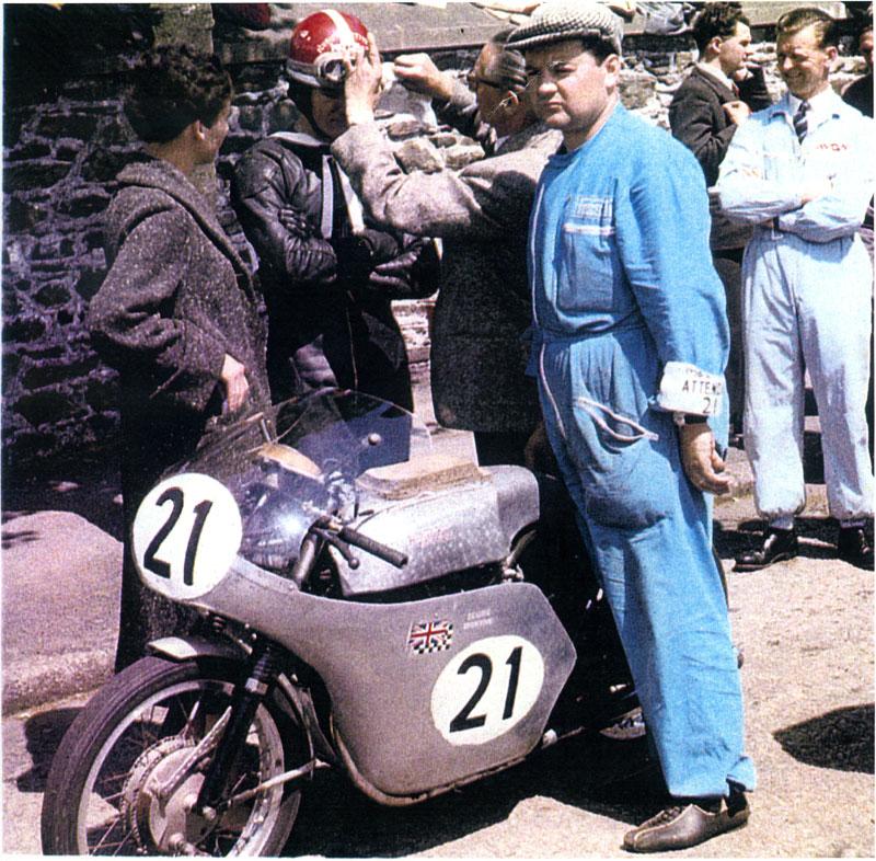 Foto Paton 125-4T en la Isle of Man TT'58